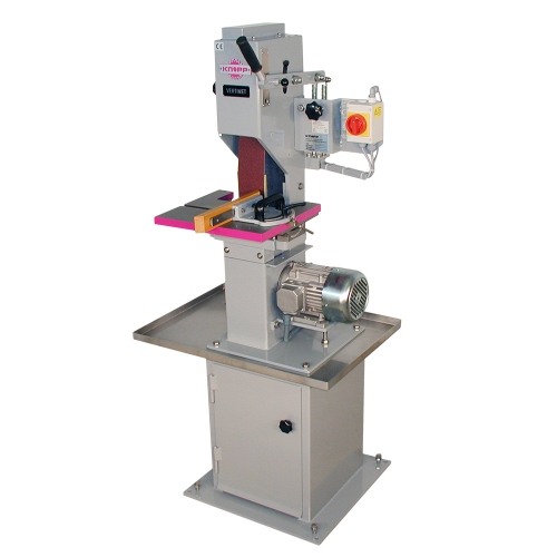 Machines with belt for grinding and polishing